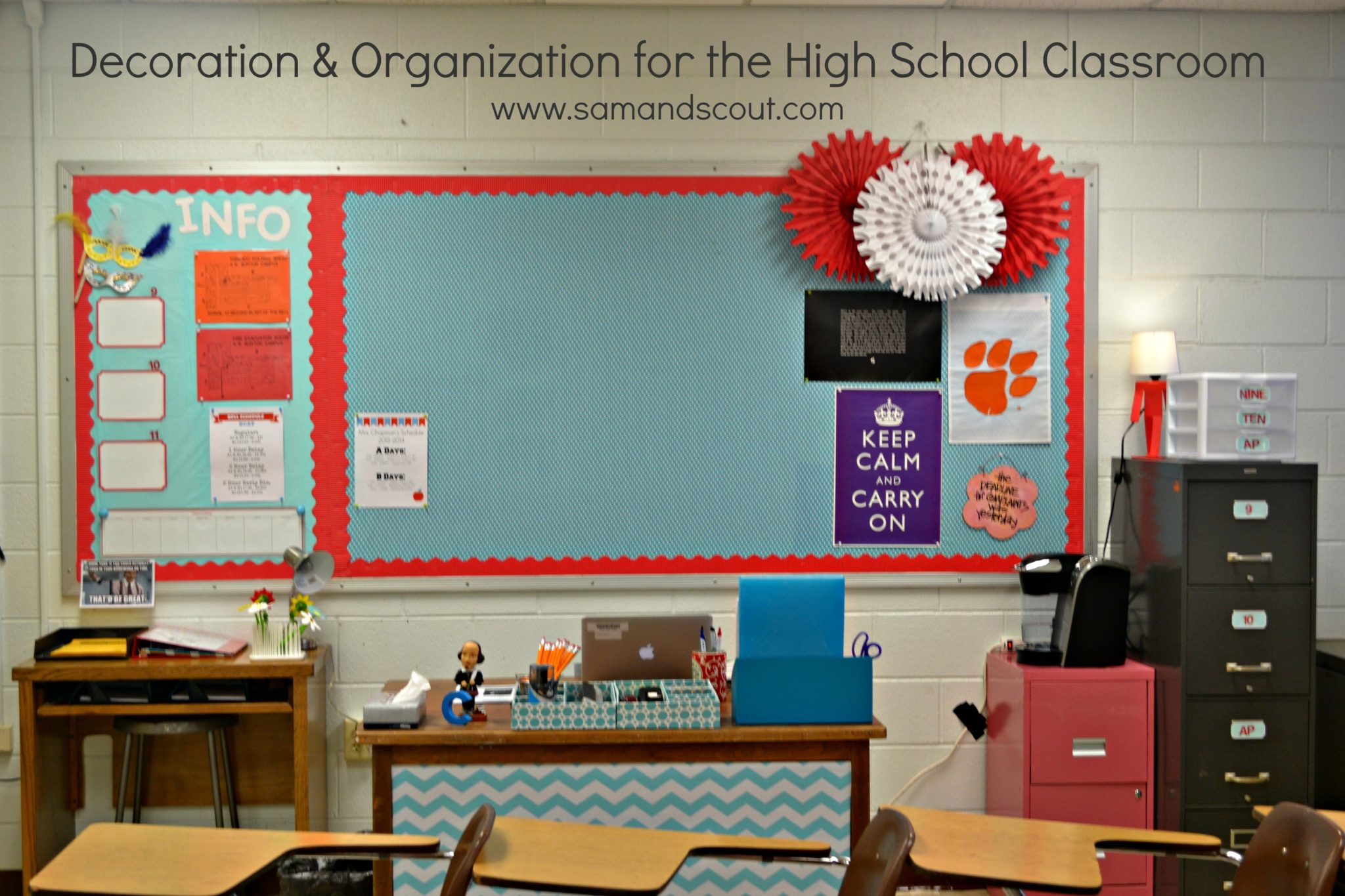 Decoration & Organization for the High School Classroom