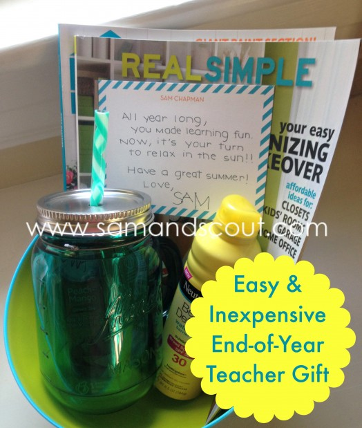 Easy And Inexpensive End Of Year Teacher Gift Teaching