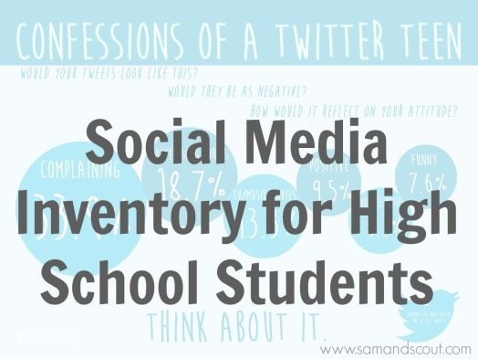 Social Media Inventory For High School Students Teaching Sam And Scout
